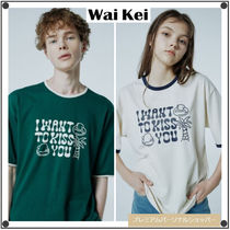 Wai KeiのI WANT TO KISS YOU typo ringer half Tシャツ 全2色