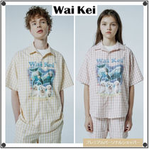 Wai KeiのReal puppy dolphin gingham check half sleeve shirts