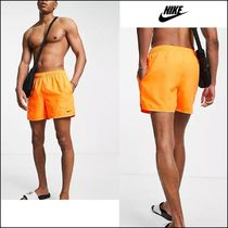 NIKE Swimming essential 5 inch volley shorts in orange♪
