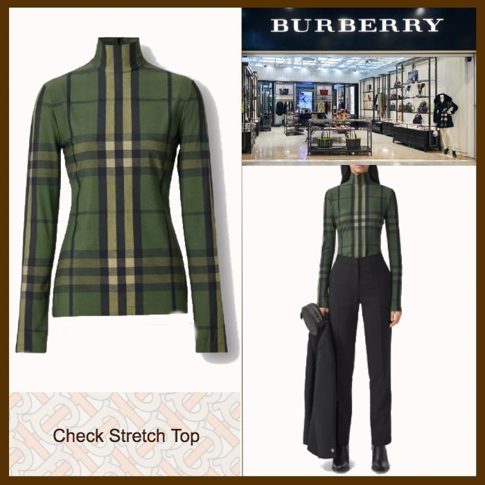 21SS◆モダンな存在感◆BURBERRY◆Check Stretch Top (Burberry London/Tシャツ・カットソー) 69600311