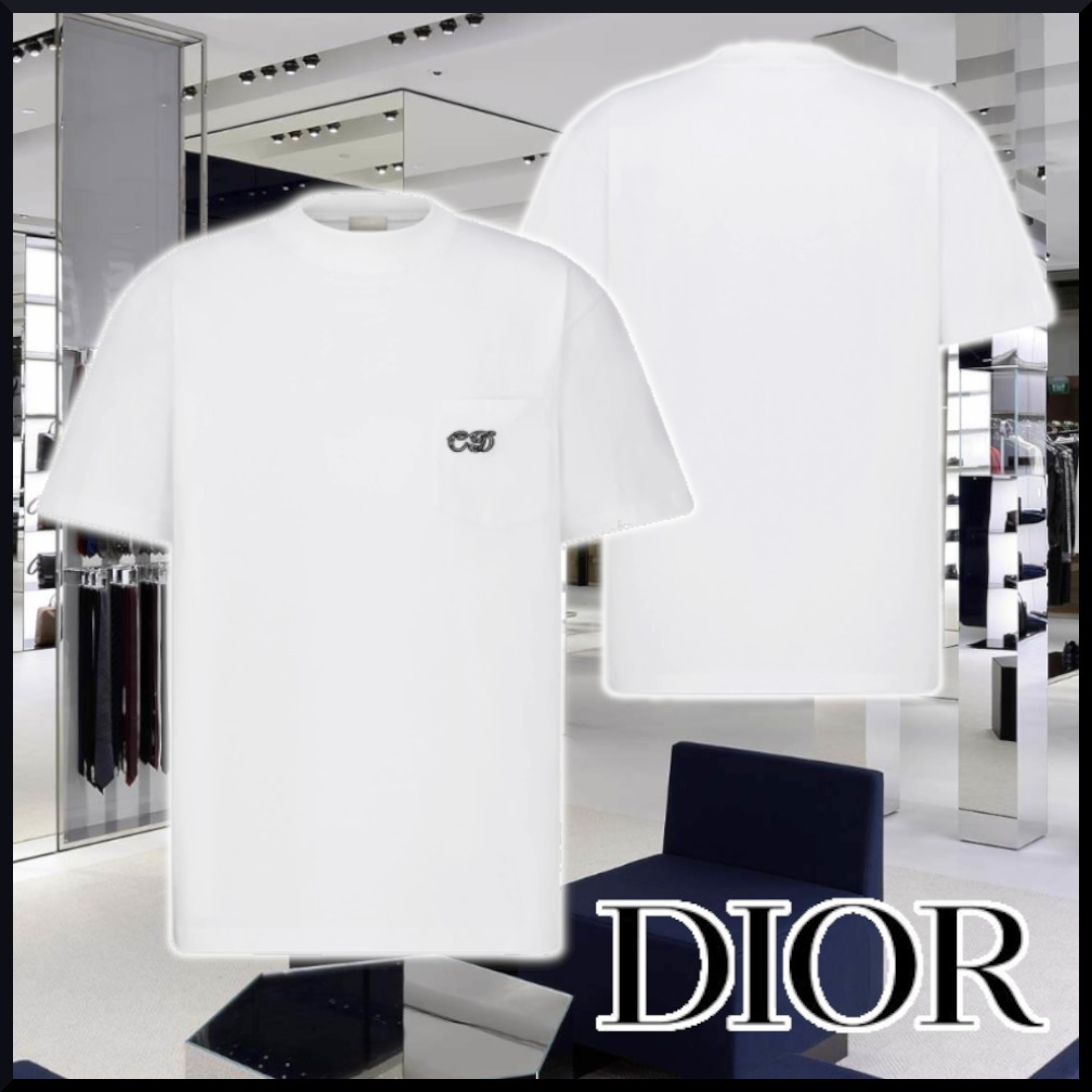 【DIOR】21SS CD AND KENNY SHARP OVERSIZE white Tシャツ (Dior/Tシャツ・カットソー) 193J635A0677_C089