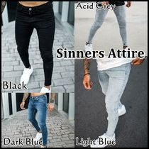 SINNERS ATTIRE * NON RIP SPRAY ON JEANS スキニーフィット