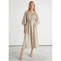 & other stories★Belted Shell Button Midi Dress