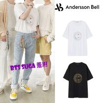 ANDERSSON BELL(アンダースンベル) Tシャツ・カットソー ☆ANDERSSON☆ UNISEX SMILE EARTH EMBROIDERY T-SHIRT 男女兼用