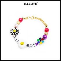 SALUTE(サルーテ) ブレスレット ●SALUTE● FLOWER ANARCHY COLOR BEEDS CHARMS LETTERING 人気