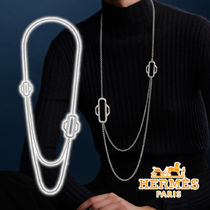 HERMES 21SS Attelage Hermes long necklace Silver ネックレス