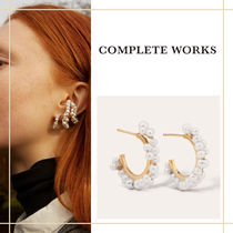 """Completedworks """"STRATUS"""" 14Kメッキ 淡水パール ピアス"""