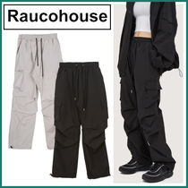 【Raucohouse】Front Rib Cargo Banding Trousers★2色
