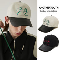 ANOTHERYOUTH正規品★21SS★レザー調ブリムボールキャップ