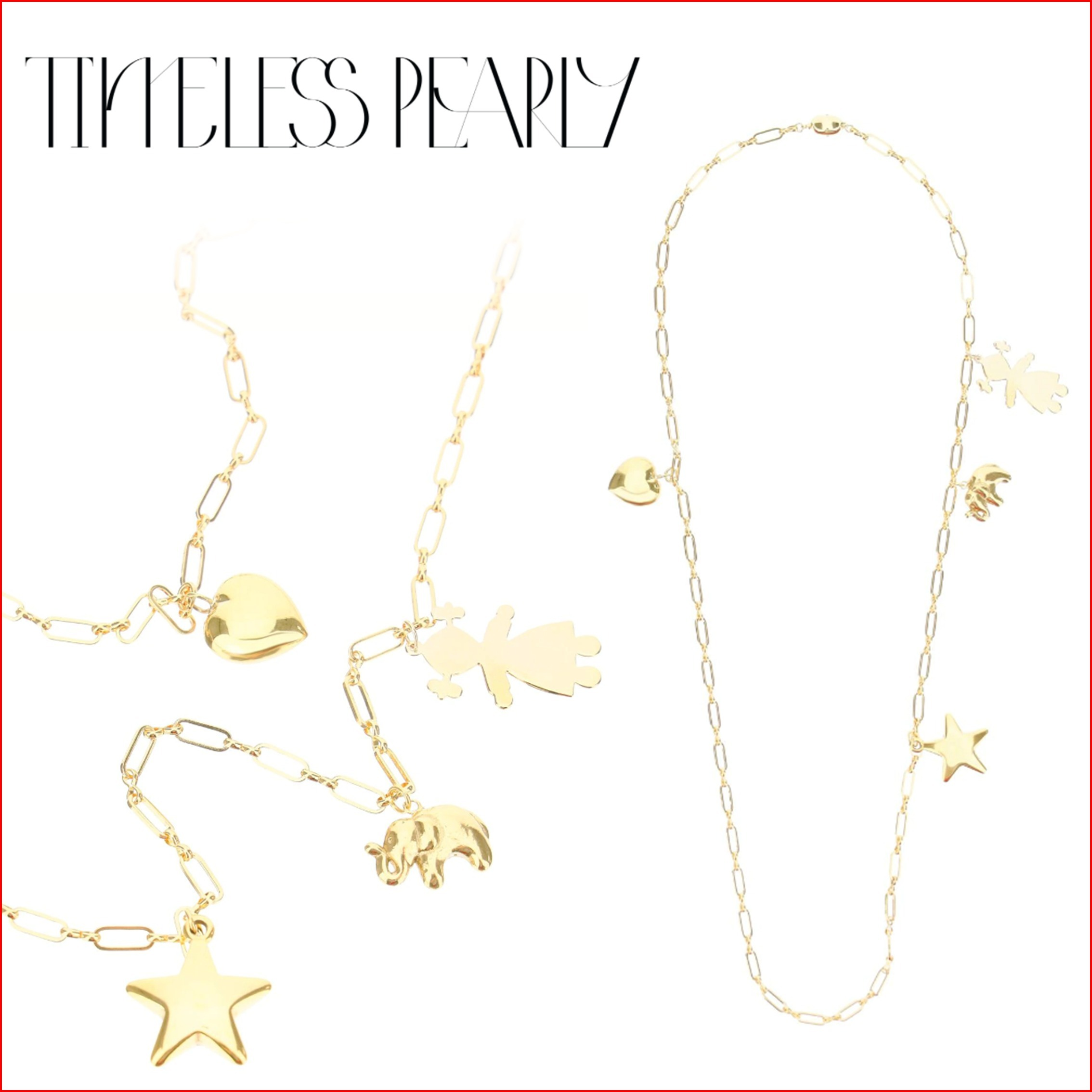 TIMELESS PEARLY ネックレス 24K ハート ハンドメイド ゴールド (TIMELESS PEARLY/ネックレス・ペンダント) 69686425