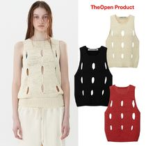 【TheOpen Product】21ss CUT-OUT COTTON SLEEVELESS SWEATER