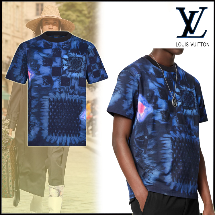 21FW☆直営買付☆新作☆Louis Vuitton ソルトプリントTシャツ (Louis Vuitton/Tシャツ・カットソー) 1A8X1O
