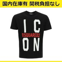 DSQUARED2 Icon ロゴ プリント コットン Tシャツ カットソー