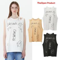 【TheOpen Product】21ss SHOULDER CUT-OUT DRAWING TOP