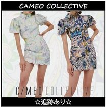 ★CAMEO COLLECTIVE★ペイズリーパフスリーブミニドレス