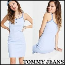 【TOMMY JEANS】パステルコレクション ロゴキャミワンピース