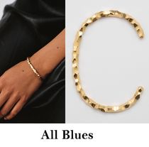 All Blues◆Snake Thin & Carved ブレスレット◆ゴールド