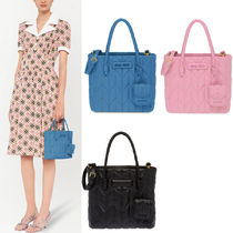 MM1317 QUILTED NAPPA LEATHER TOTE BAG