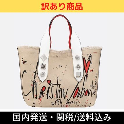 <CHRISTIAN LOUBOUTIN> 新作♪ ファブリックトートバッグ