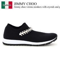 Jimmy choo verona sneakers with crystals and pearls