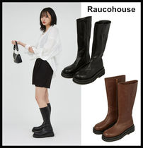 【RAUCOHOUSE】round chunky flat boots