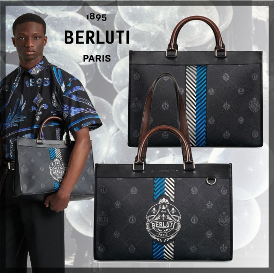 ◆Berluti◆ Ulysse Small Canvas and Leather Tote Bag * 21SS (Berluti/トートバッグ) 69772197