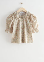"""""""& Other Stories""""新作☆Floral Print Puff Sleeve Blouse(beige"""