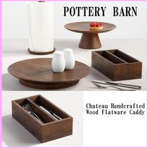 【Pottery Barn】Chateau Handcrafted Wood Flatware キャディ♪