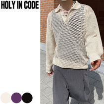 HOLY IN CODE(ホーリーインコード) ★ Punching Collar Knit 3色