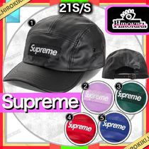 21SS /Supreme Leather Camp Cap レザー キャンプ キャップ