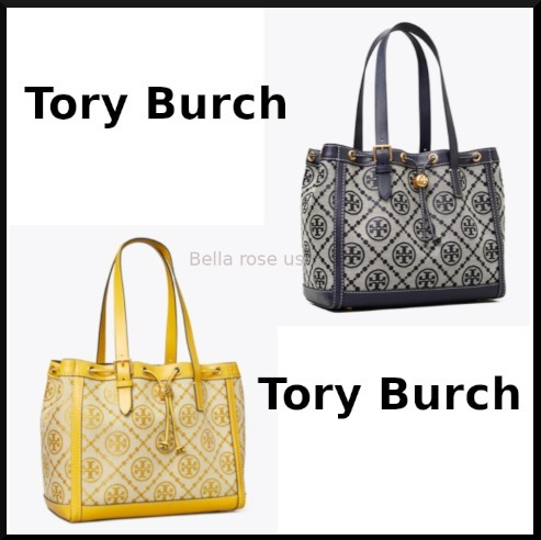 Tory Burch *T MONOGRAM JACQUARD SMALL TOTE BAG*国内発送 (Tory Burch/トートバッグ) 69807057
