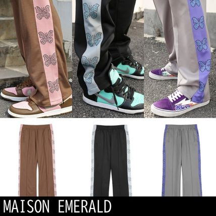 【MAISON EMERALD】BUTTERFLYウェビングパンツ*送料・関税込*