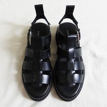 """""""& Other Stories"""" Chunky Leather Gladiator Sandals Black"""