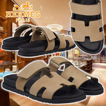 【HERMES】21AW Chypre sandals Beige Leather サンダル