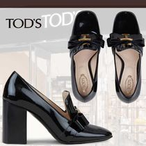 TOD'S直営店◆トッズ パテントレザー タイムレス デコルテ ロゴ
