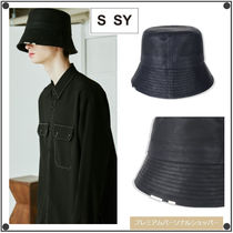 SSYのDenim carbon coated chain bucket hat