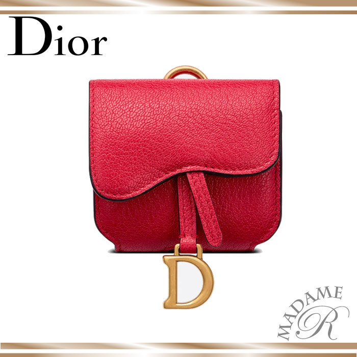 【Dior】大人気 SADDLE Air Pods ケース 赤 (Dior/財布・小物その他) S5675CCEH_M14F