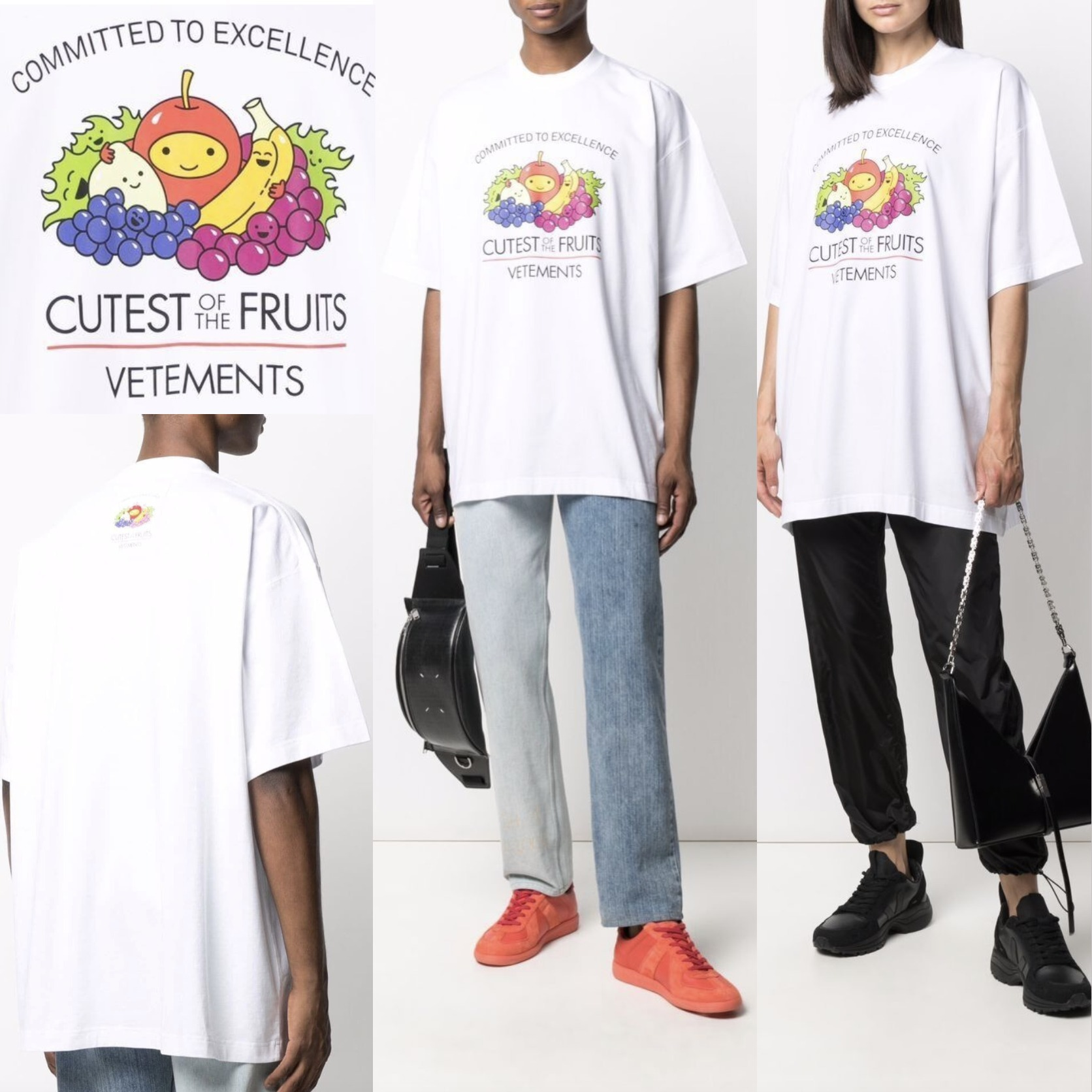 VETEMENTS CUTEST OF THE FRUITS Tシャツ ユニセックス 関税込 (VETEMENTS/Tシャツ・カットソー) 69909808