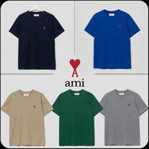 [AMI]★Men Crewneck T-shirt with Ami Heart Embroidery