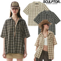 ★SCULPTOR★送料込み★韓国★正規品 Grunge Ombre Check Shirt
