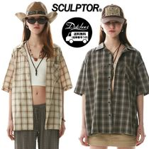 SCULPTOR Grunge Ombre Check Shirt YJ1595