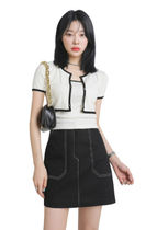 [our] Carin Crop Sleeveless & Cardigan Set (3color)