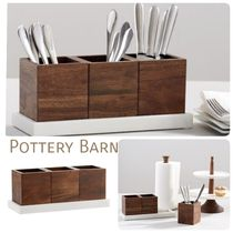 ★Pottery Barn★ Chateau Marble & アカシアウッド キャディ
