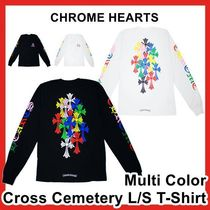 CHROME HEARTS(クロムハーツ) Tシャツ・カットソー Chrome Hearts Multi Color Cross Cemetery L/S LS T-Shirt TEE