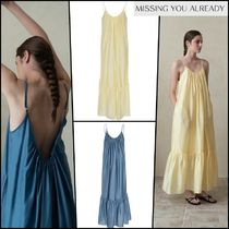 【Missing You Already】 Wrinkle strap dress ★2COLOR★