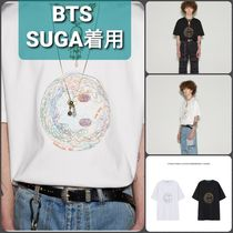 BTS SUGA着用★UNISEX SMILE EARTH EMBROIDERY T-SHIRT  Tシャツ