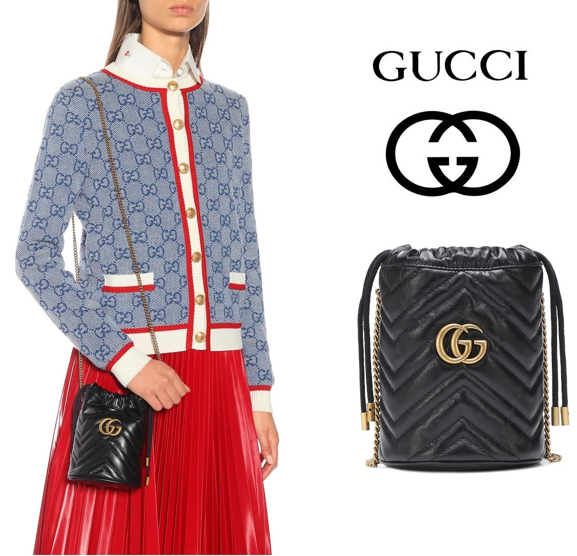 [GUCCI] GG Marmont Mini leather bucket ミニ レザーバケット (GUCCI/ショルダーバッグ・ポシェット) 69978547
