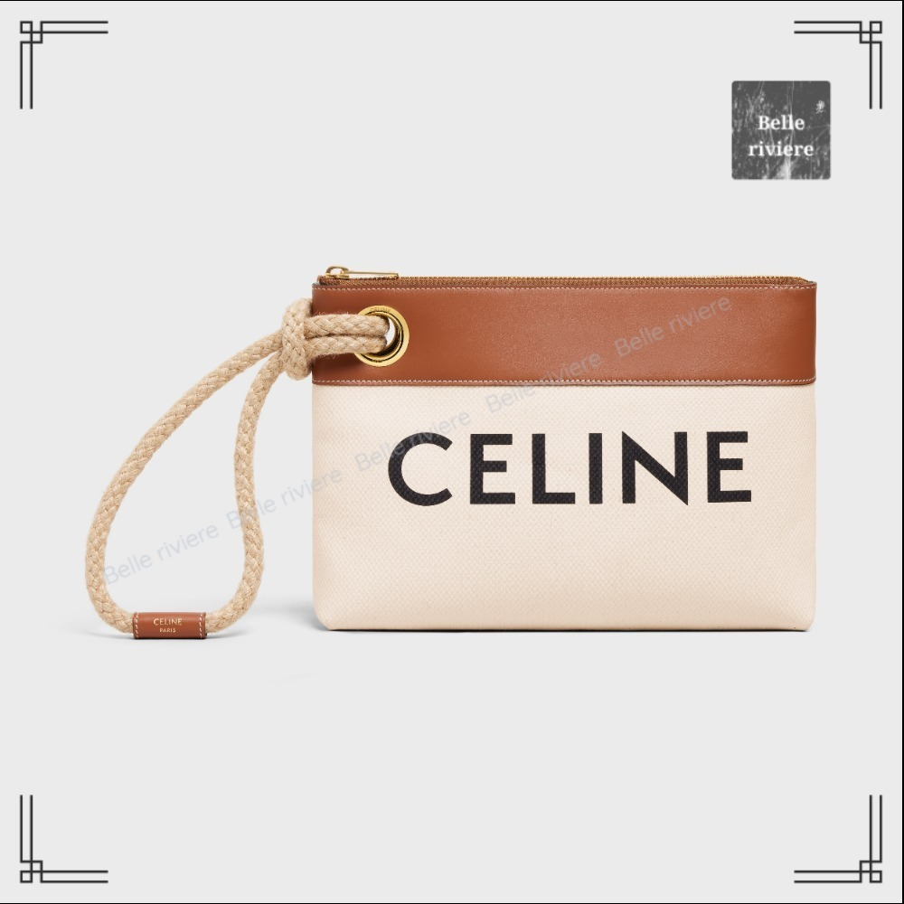 CELINE  21AW new / Pouch Marin in Textile with Celine (CELINE/財布・小物その他) 69983945