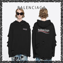 BALENCIAGA バレンシアガ POLITICAL CAMPAIGN DESTROYED HOODIE