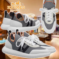 【HERMES】21AW Sneakers crew Gris Knit スニーカー